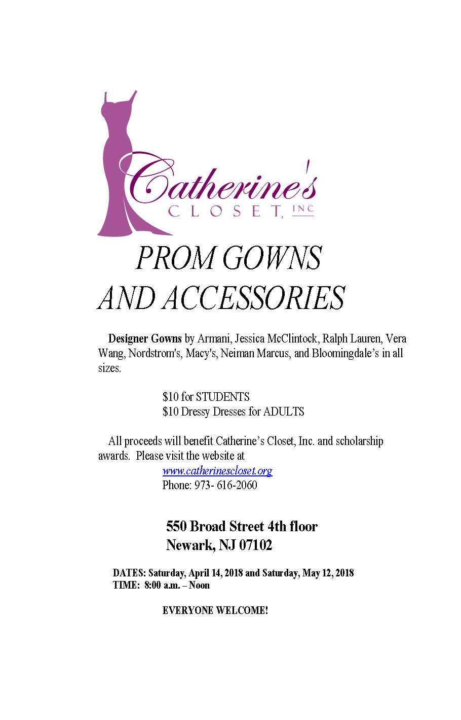 Catheriness closet flyer.png