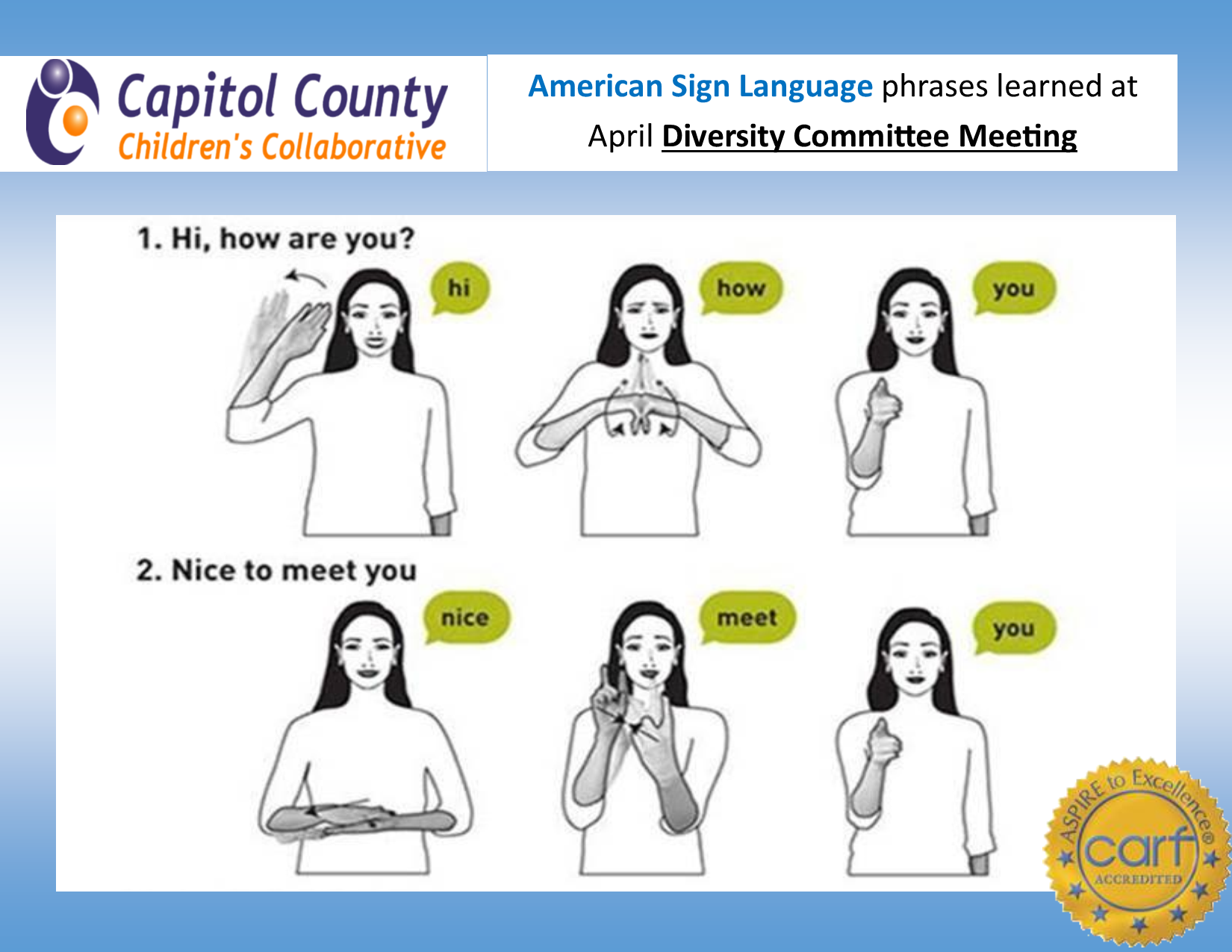 Sign Language Poster