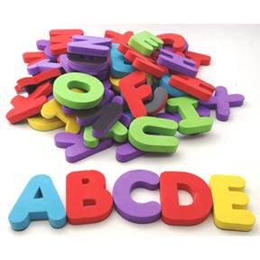 Homemade Alphabet Magnets