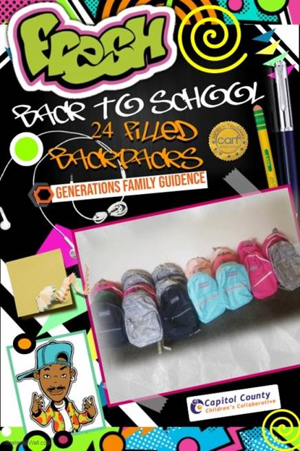 Generations Family Guidance Backpack Drive