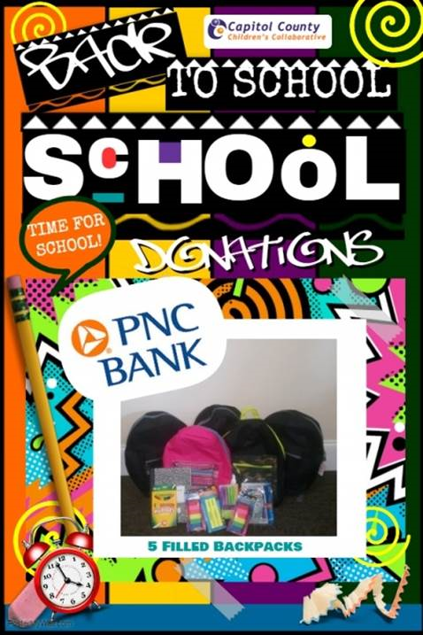PNC Bank Backpack Drive 2018