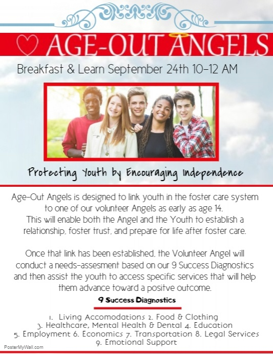 Age Out Angels Breakfast and Learn September 2018