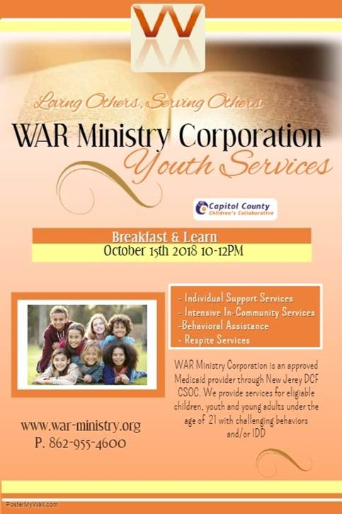 WAR Ministry Corporation Breakfast and Learn October 2018