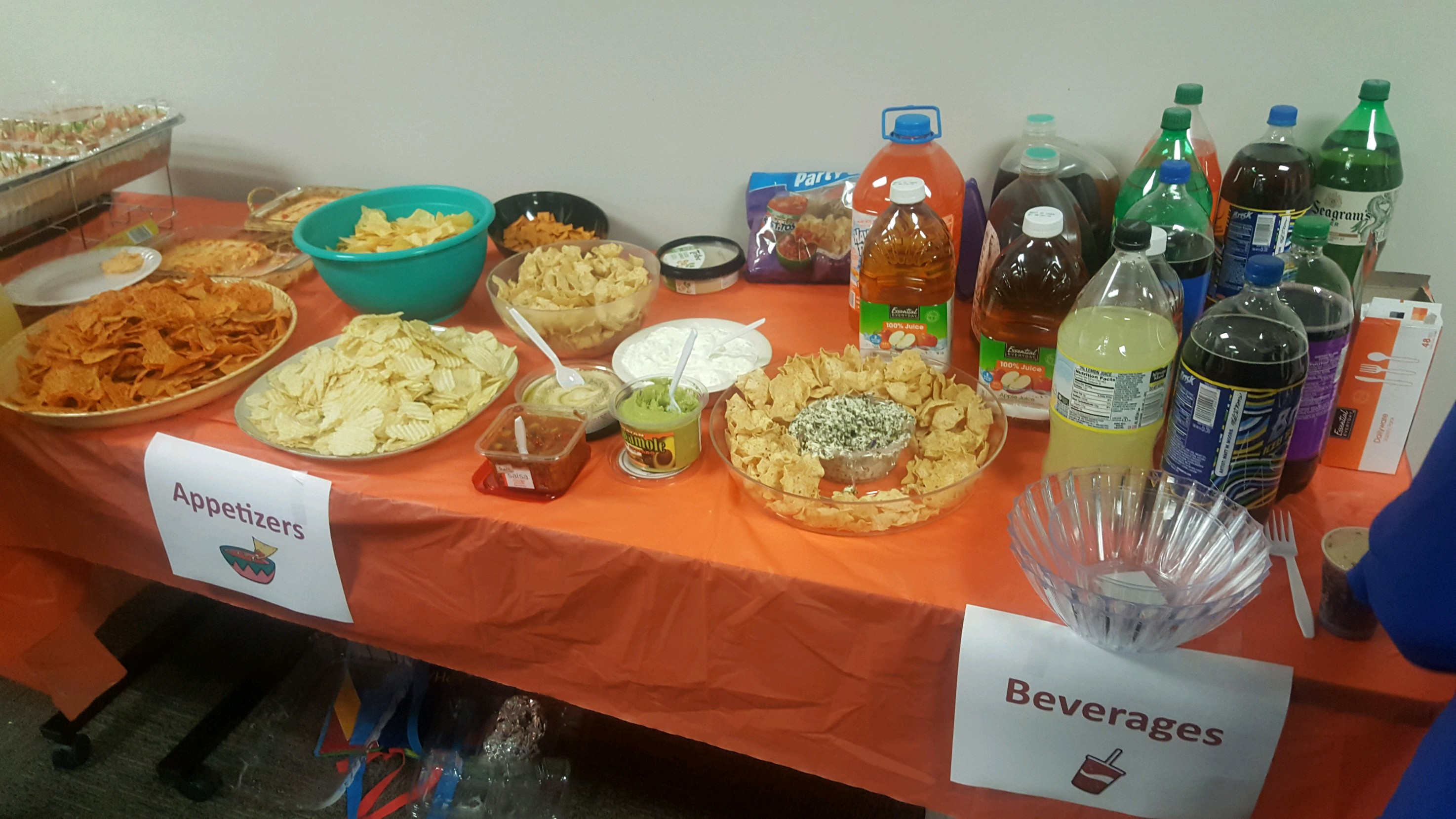 Employee Potluck - appetizers