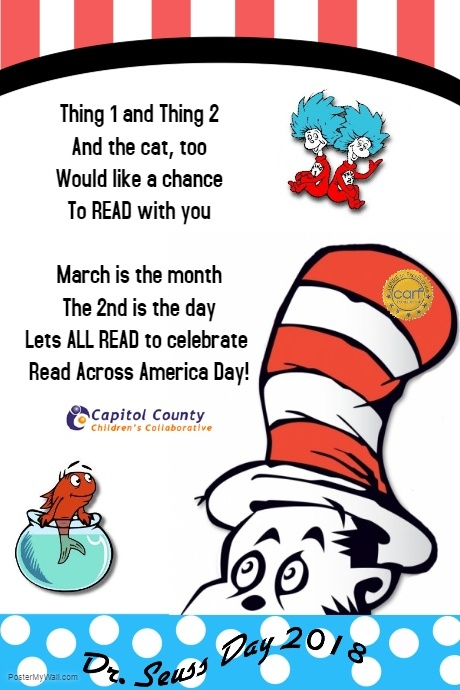 March 2nd 2018 - Dr. Seuss Read Across America Day